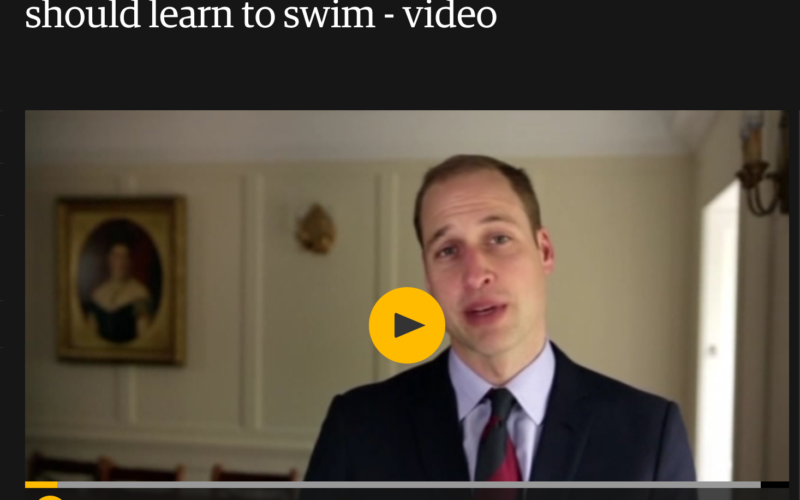 Prince William Learn To Swim Video